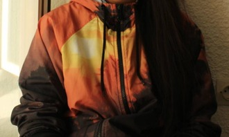 jacket print sunset orange sportswear sid skins