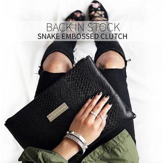 bag maniere de voir snake bag kylie jenner clutch kendaljenner snake embsosed leather bag handbag