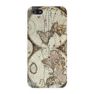 Amazon.com: vintage world map hard case cover iphone 5c: cell phones & accessories