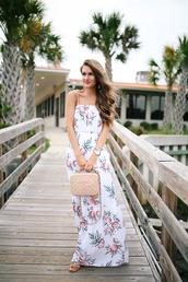 dress,chanel,tumblr,maxi dress,floral maxi dress,long dress,summer dress,summer outfits,bag,chanel bag