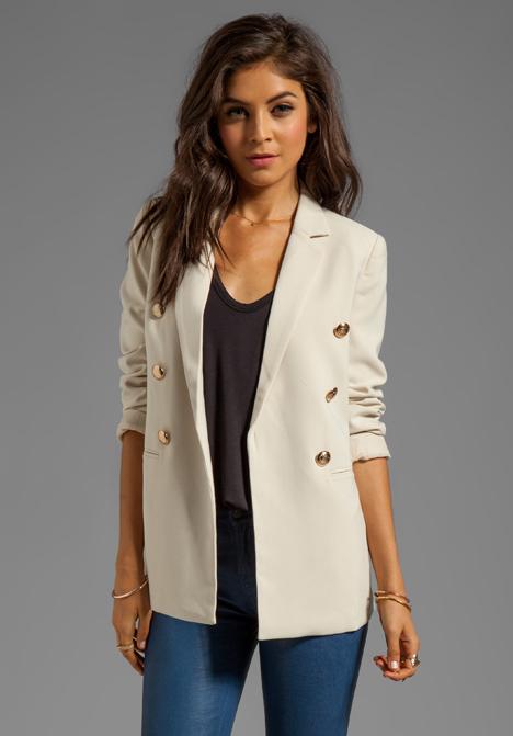 BLAQUE LABEL Jacket in Cream - Blazers