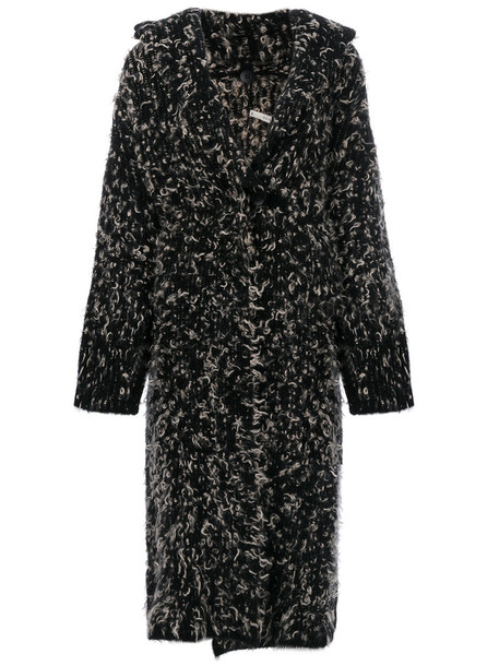 Boboutic - chunky knit cardi-coat - women - Polyamide/Spandex/Elastane/Mohair/Wool - XS, Black, Polyamide/Spandex/Elastane/Mohair/Wool