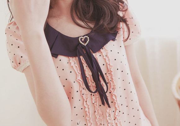style clothes chic blouse polka dots