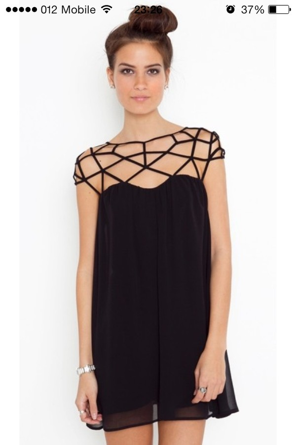 dress black black cage dress