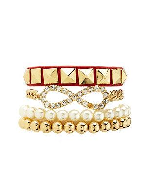 Rhinestone infinity bracelet set: charlotte russe