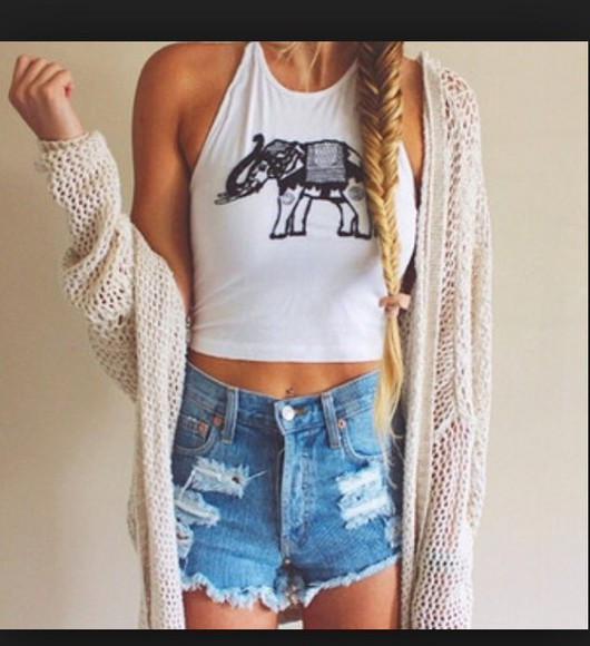 cardigan urban outfitters hippie elephant top elephants top new look