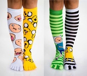 shoes,adventure time socks,finn the human,jake the dog