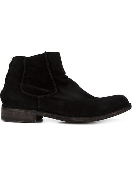 OFFICINE CREATIVE women boots suede black shoes