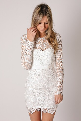 dress lace white wedding blonde hair clothes hipster wedding lace dress white dress cute dress