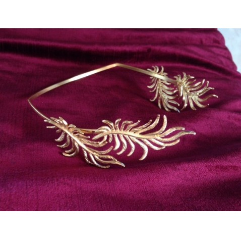 Two leaves greek goddess inspired tiara