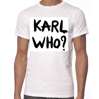 Karl who t shirts chanel custom t shirt printing for Personalized t shirts canada
