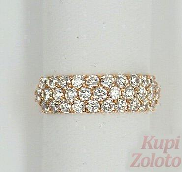 Золотое кольцо с фианитами - Бест Ювелир Золото | КупиЗолото