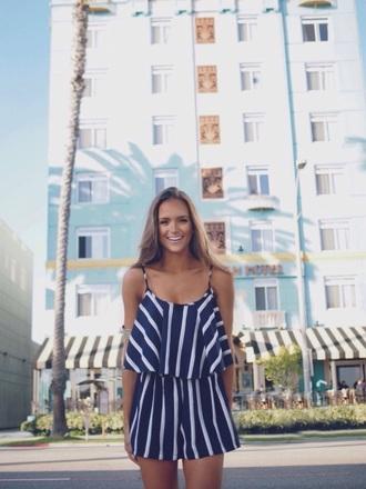 jumpsuit play suit striped dress stripes style