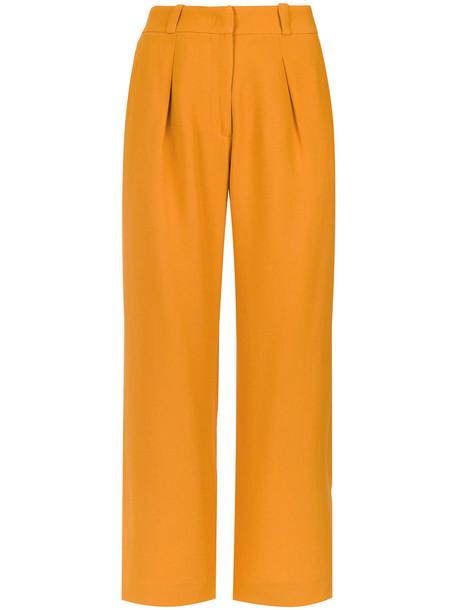 EGREY cropped women yellow orange pants