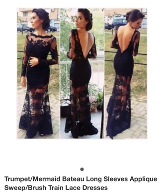 dress black maxi lace boho formal sheer amazing backless detail
