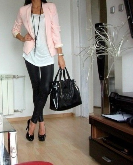 kim kardashian pants leather leggings blazer fashion toast jacket bag