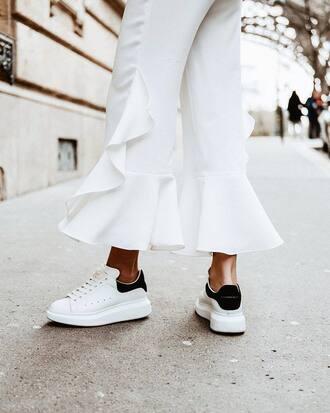 shoes alexander mcqueen white sneakers sneakers back to school italist