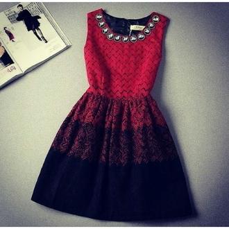 little black dress red dress