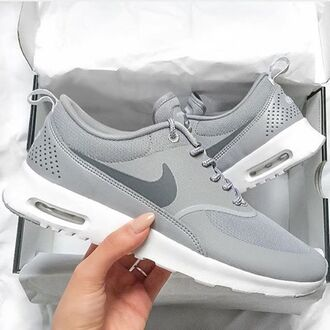 shoes nike running shoes grey silver