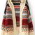 Beige Long Sleeve Tribal Print Asymmetrical Cardigan - Sheinside.com