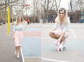 skirt,marina and the diamonds,dog,soft toy,bow,pretty,pink,wrap,long,hat,pastel
