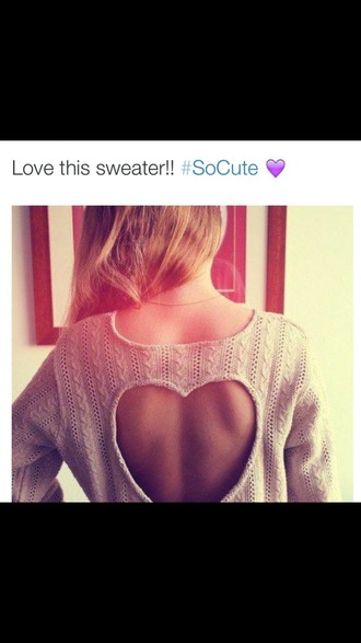 sweater heart sweater heart heart cut out heart cutout back cozy sweater soft sweater hipster sweater hipster