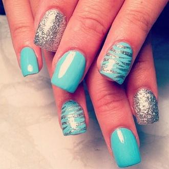 zebra turquoise nail polish