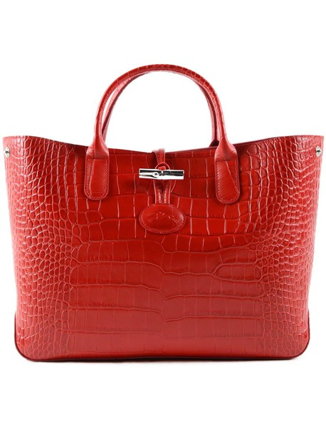 Longchamp crocodile red bag