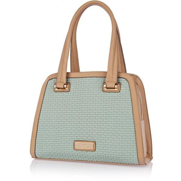 River Island Beige textured frame bag - Polyvore