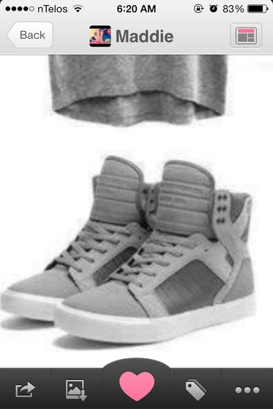 shoes high top sneaker high tops grey