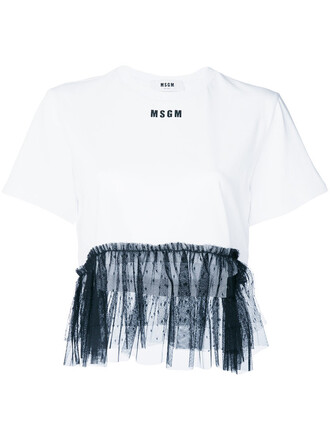 t-shirt shirt cropped t-shirt cropped women white cotton top