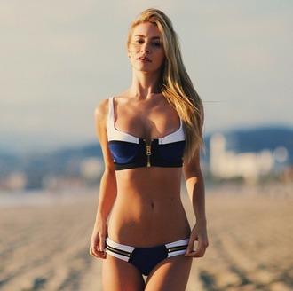 swimwear blue bikini black bikini white bikini summer beauty