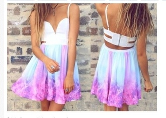 dress tye dye colours galaxy dress