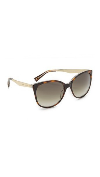 Marc Jacobs Cat Eye Sunglasses in brown