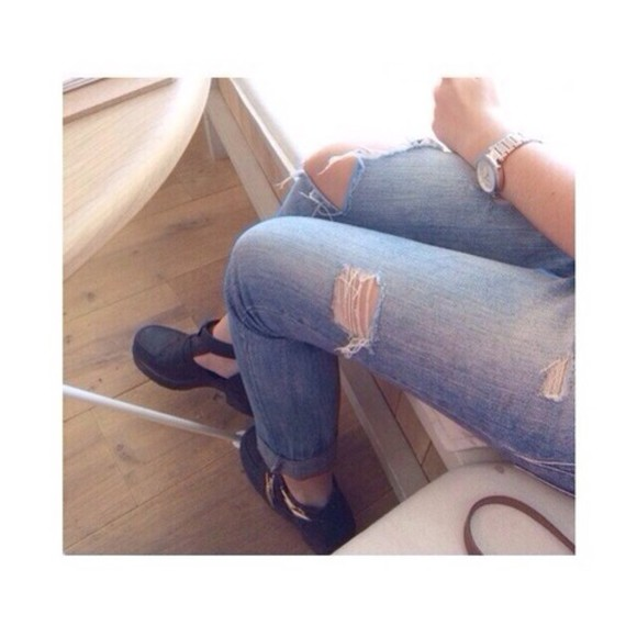 spring summer trendy jeans ripped jeans washed denim acid washed denim vintage ripped vintage jeans grunge soft grunge 2014 trendy jeans shoes