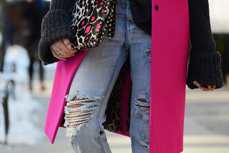 cheyenne meets chanel sweater jeans bag coat