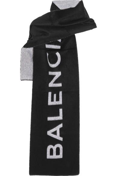 Balenciaga - Cashmere and wool-blend scarf