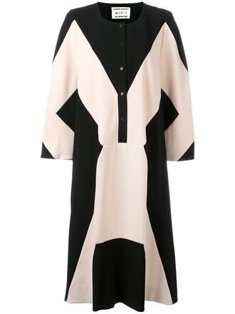dress midi dress women midi geometric print black