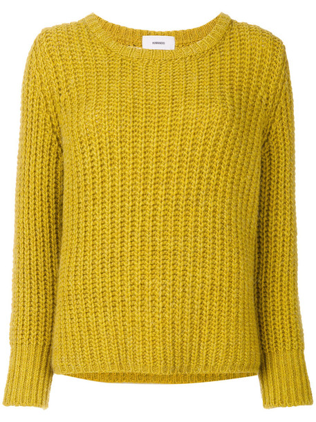 Humanoid - ribbed knit jumper - women - Acrylic/Polyamide/Spandex/Elastane/Virgin Wool - L, Yellow/Orange, Acrylic/Polyamide/Spandex/Elastane/Virgin Wool