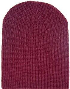 Amazon.com: fisherman rib long cuffable blank beanie maroon burgundy hat: sports & outdoors