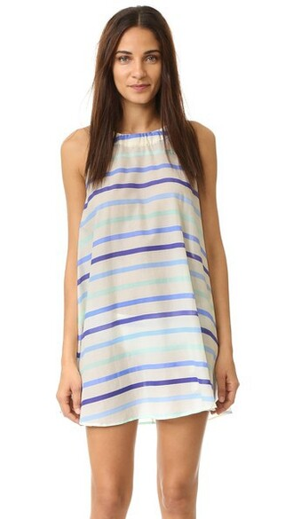 cover up blue swimwear
