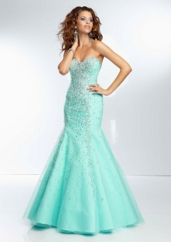 Paparazzi by Mori Lee 95003 Tulle Beaded Prom Dres