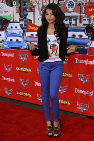 tank top mickey mouse zendaya jeans white coustome