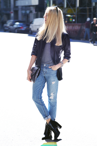 cheyenne meets chanel jacket jewels jeans t-shirt shoes bag