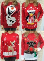 sweater,ikandi boutique,christmas sweater,christmas,ugly christmas sweater,jumper,winter jumper,snowman,penguin,cute,trendy,christmas leggings,top,knitwear,knitted sweater,knitted cardigan,deer,bambi