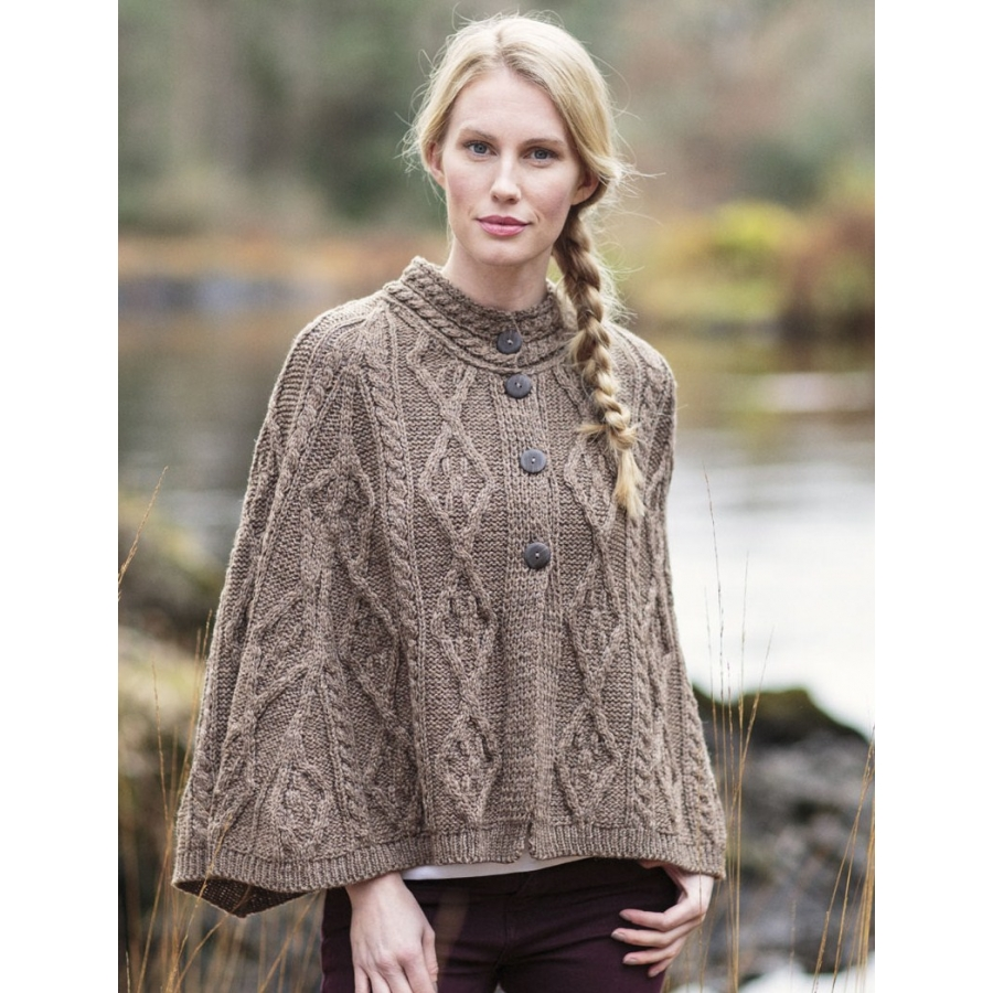 Knitting Pattern For Long Cape : Knitted Ponchos, Wool Capes & Wool Shawls for Women