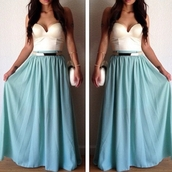 skirt,long skirt,blue skirt,tank top,bustier,turquoise jewelry,dress,home accessory,cactus lam