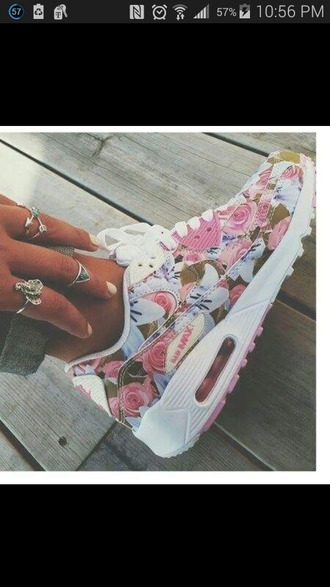 shoes nike air max floral