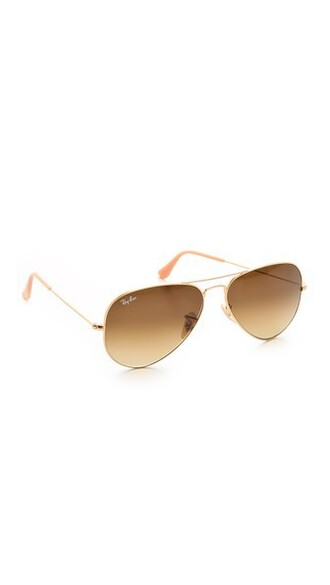 matte classic sunglasses aviator sunglasses gold brown