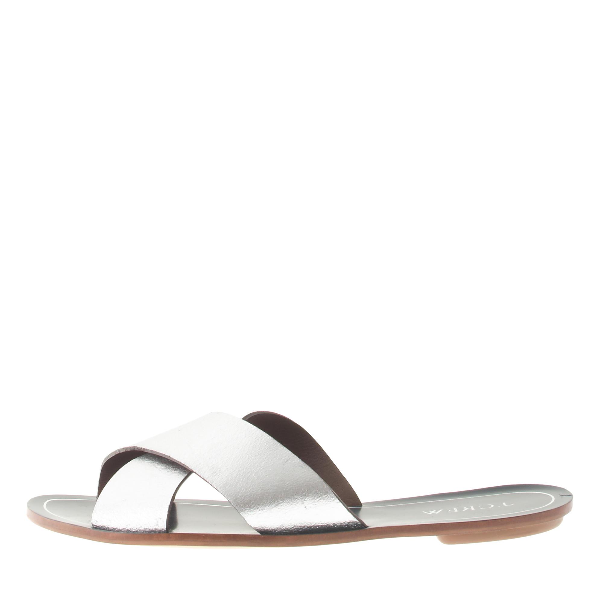 Metallic cyprus sandals